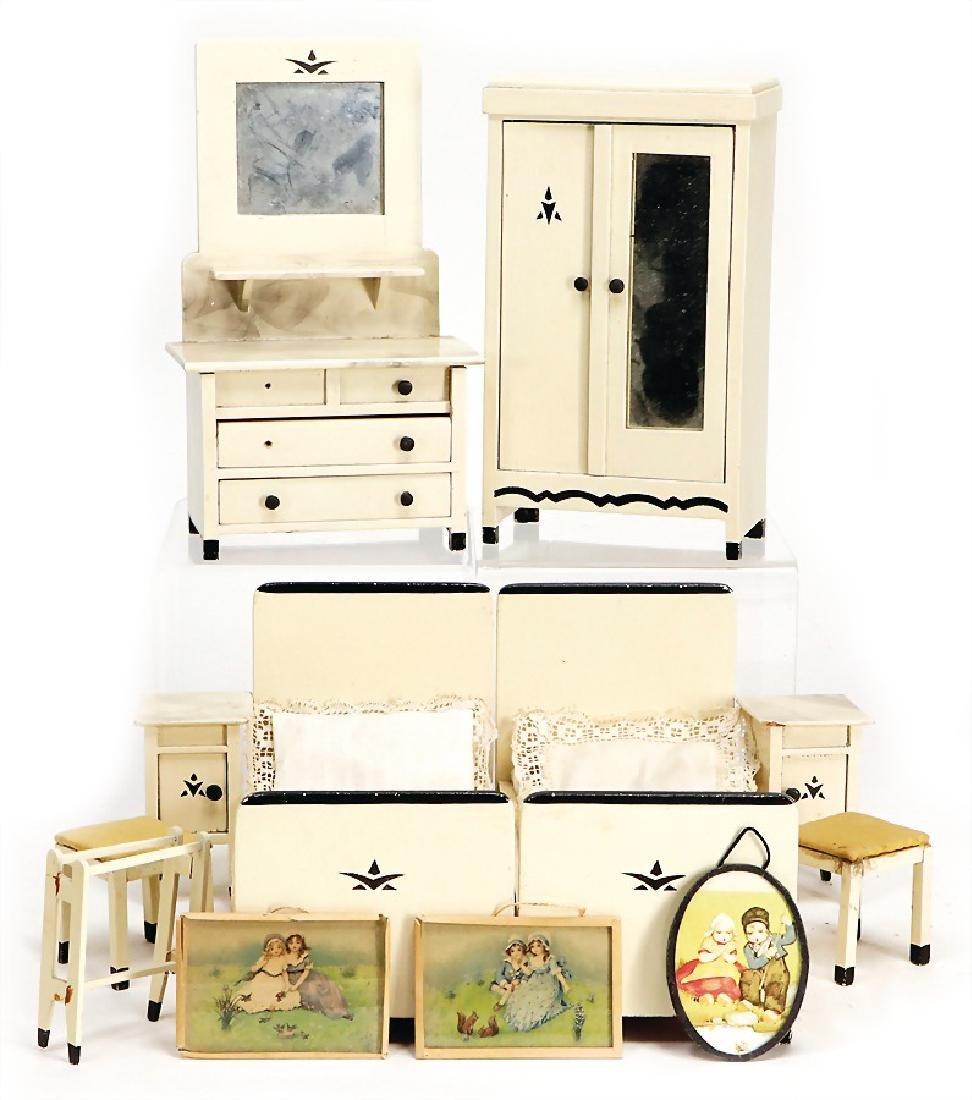 dollhouse furniture program, bedroom, c. 1920,