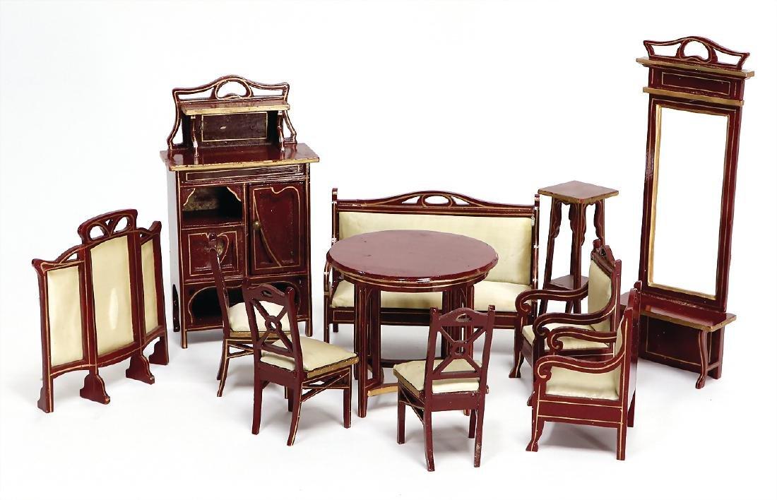 GOTTSCHALK dollhouse furniture program, red painted,