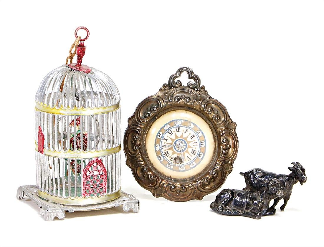 3 pieces dollhouse decoration pieces, wall clock, with