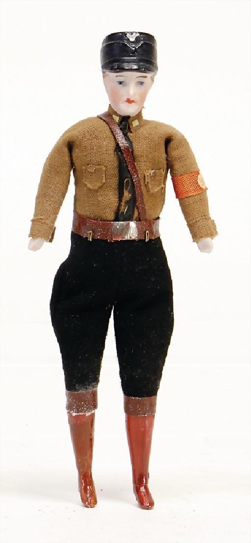 dollhouse doll, man in uniform, porcelain breast plate