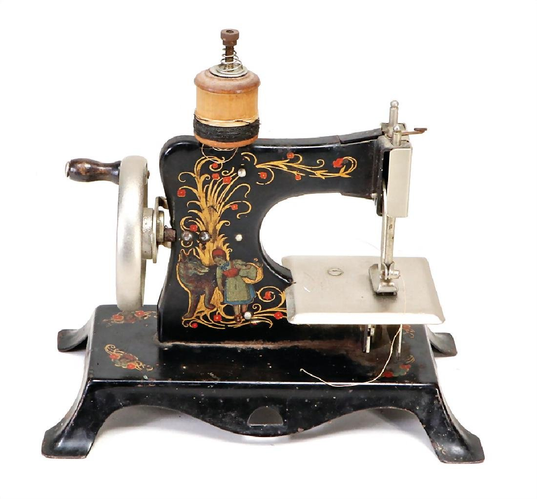 children's sewing machine, sheet metal, fairytale