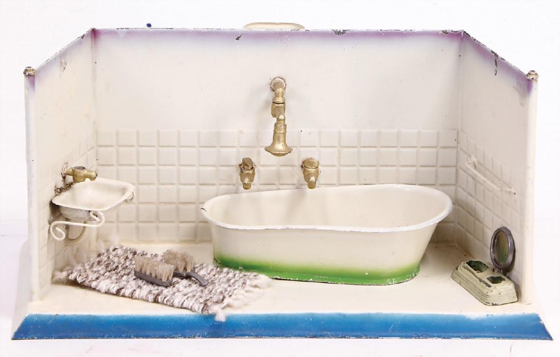 small bathroom, sheet metal, width: 27 cm, height: 14.5