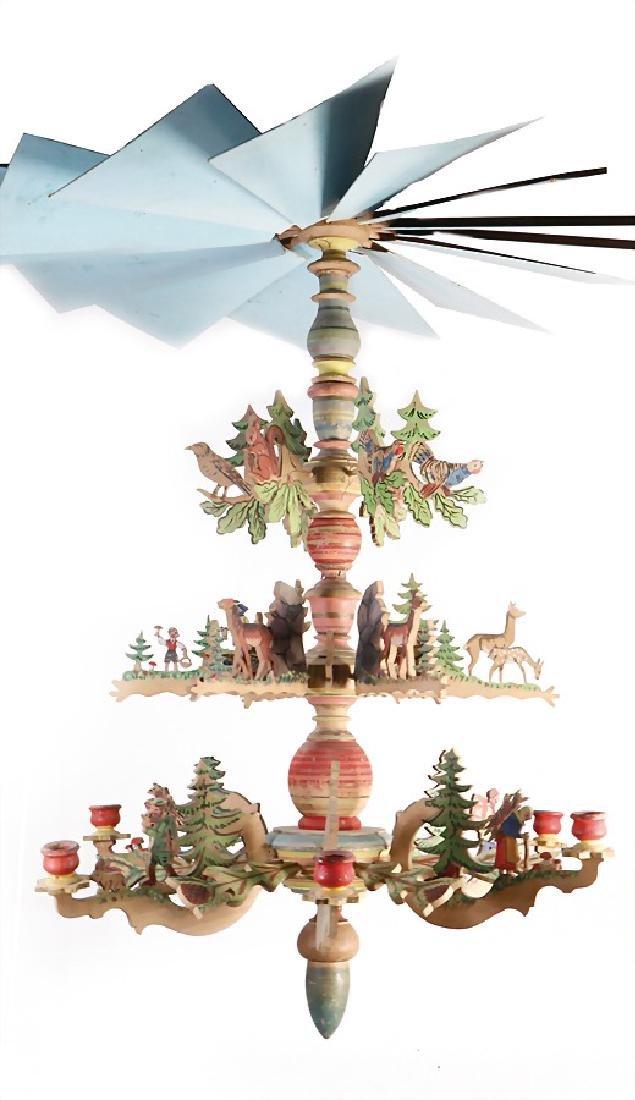 ERZGEBIRGE ceiling lamp (hanging pyramid), 82 cm,