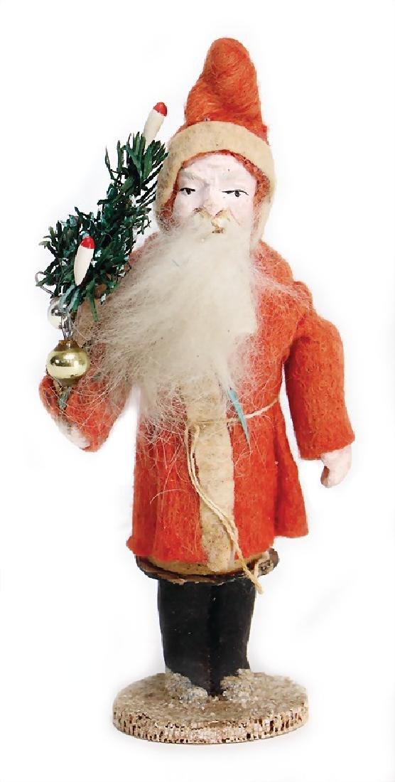 Santa Claus, candy  container, 15 cm, papier mâché,