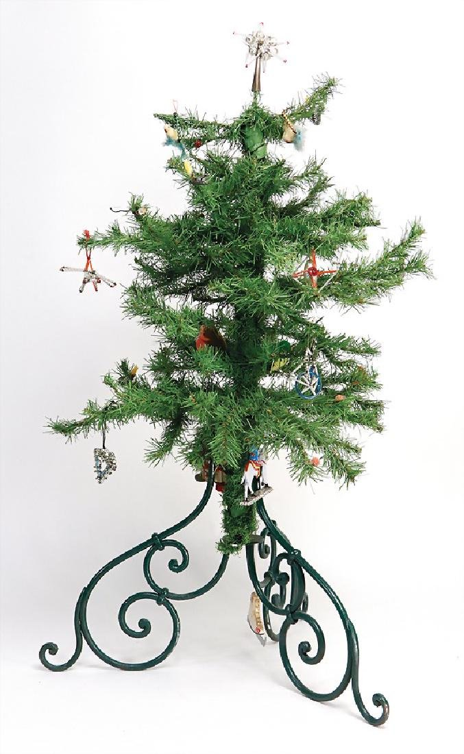 tree, 91 cm, with Christmas tree stand, some glass