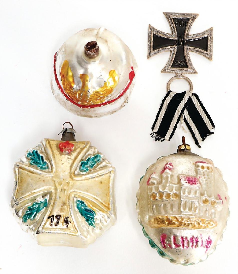4 pieces Christmas tree decoration, eisernes cross,