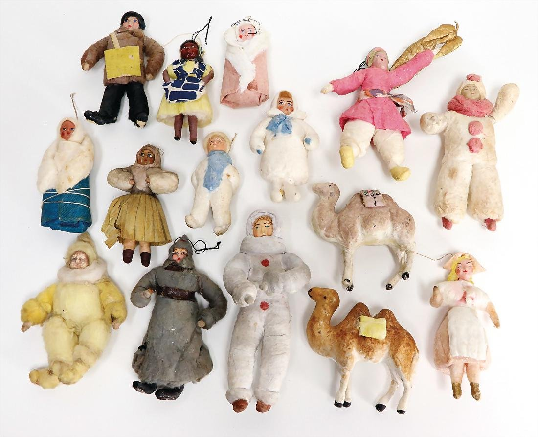 Christmas tree decoration, cotton wool, Russia, mostly