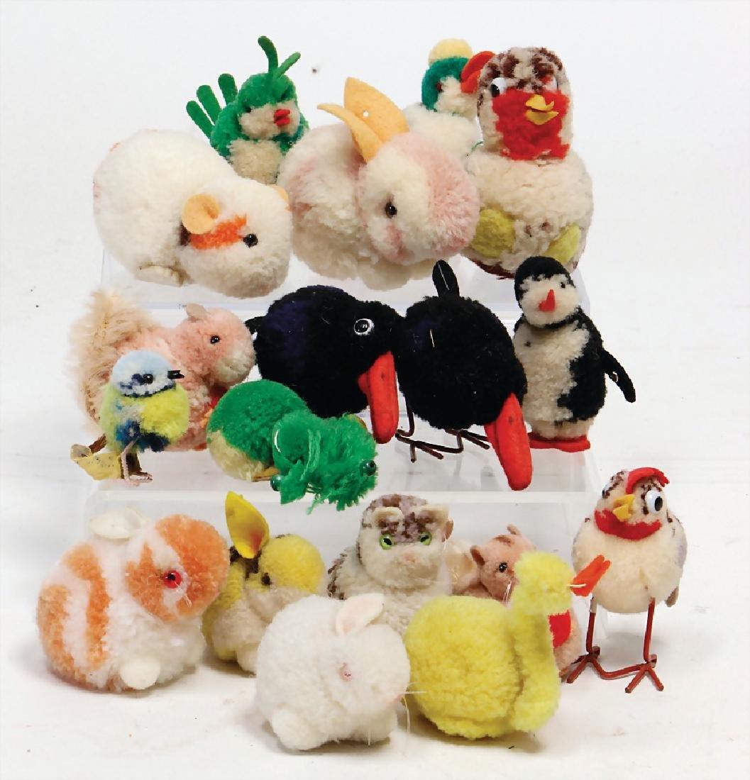 STEIFF lot 17-part, wool-miniatures, postwar era,