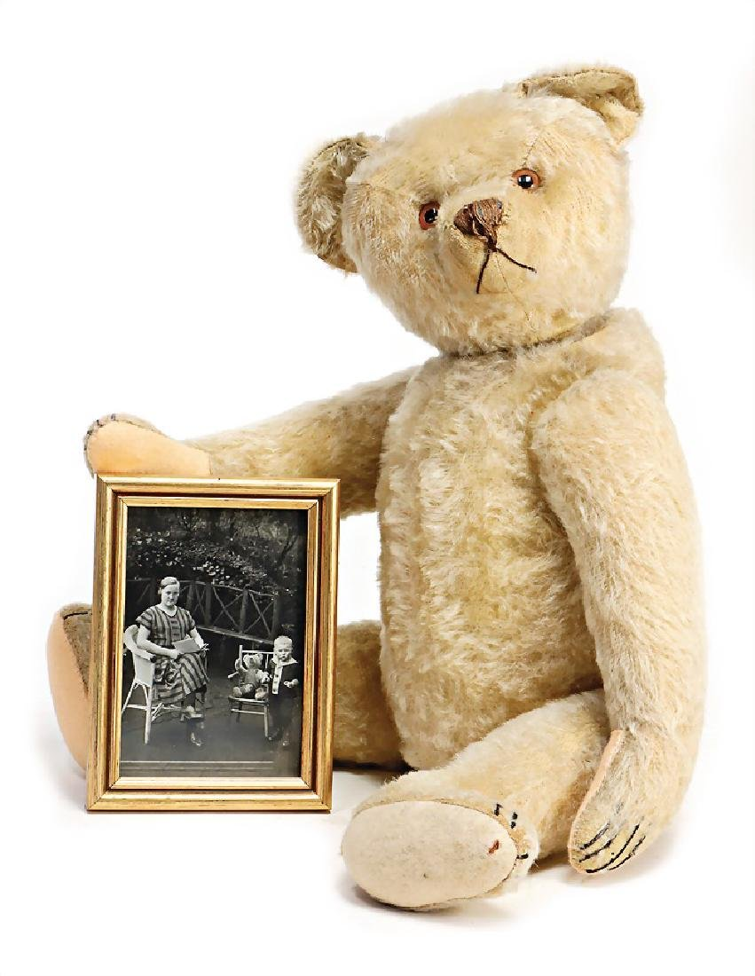 BING bear with a story, this bear was presented to Karl