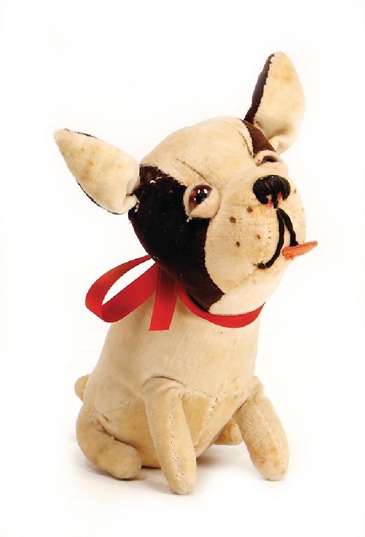 dog, velvet Bulldog, c. 1940 - 40, probably English,