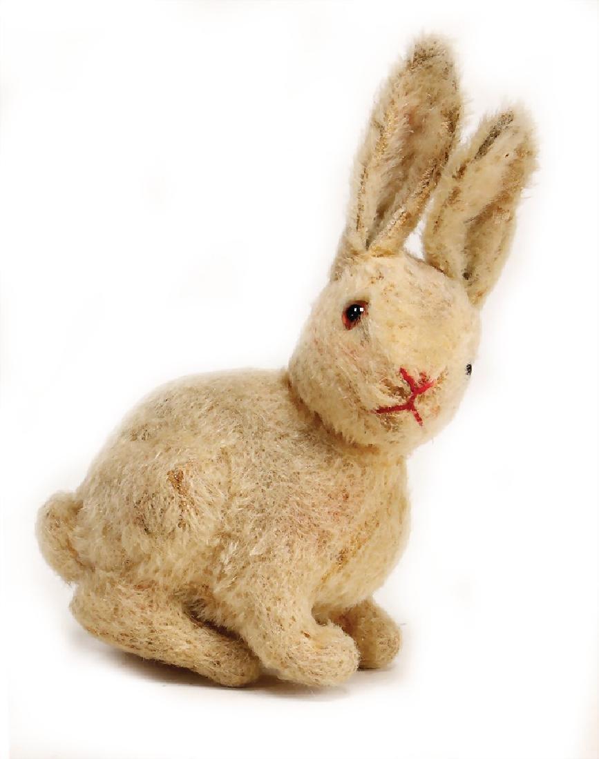 STEIFF hare, sitting, swivel head, pre-war era, button
