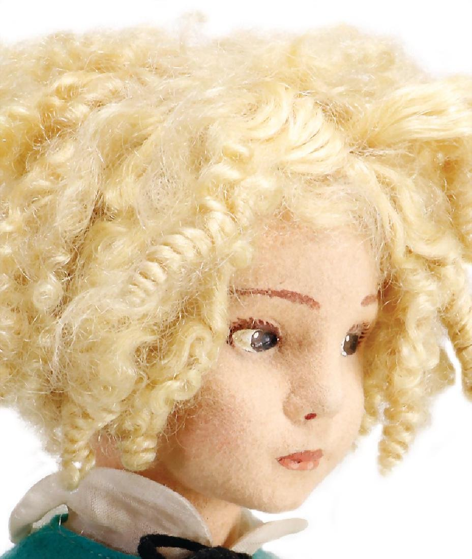 LENCI doll, felt head, fine, brown to the side looking - 2