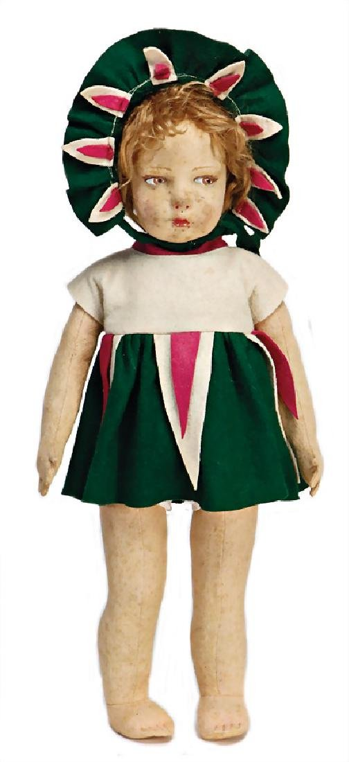 LENCI girl, movable felt head, with to the side
