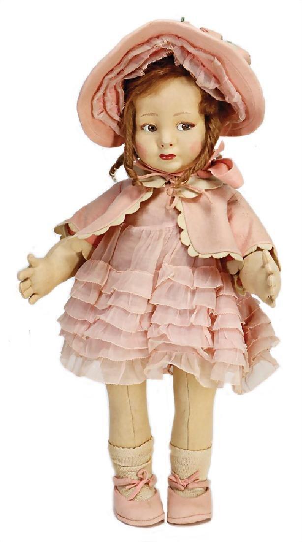 LENCI girl, swivel felt head, to the side looking,
