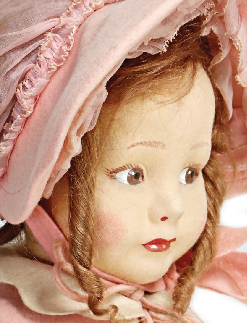 LENCI girl, swivel felt head, to the side looking, - 2