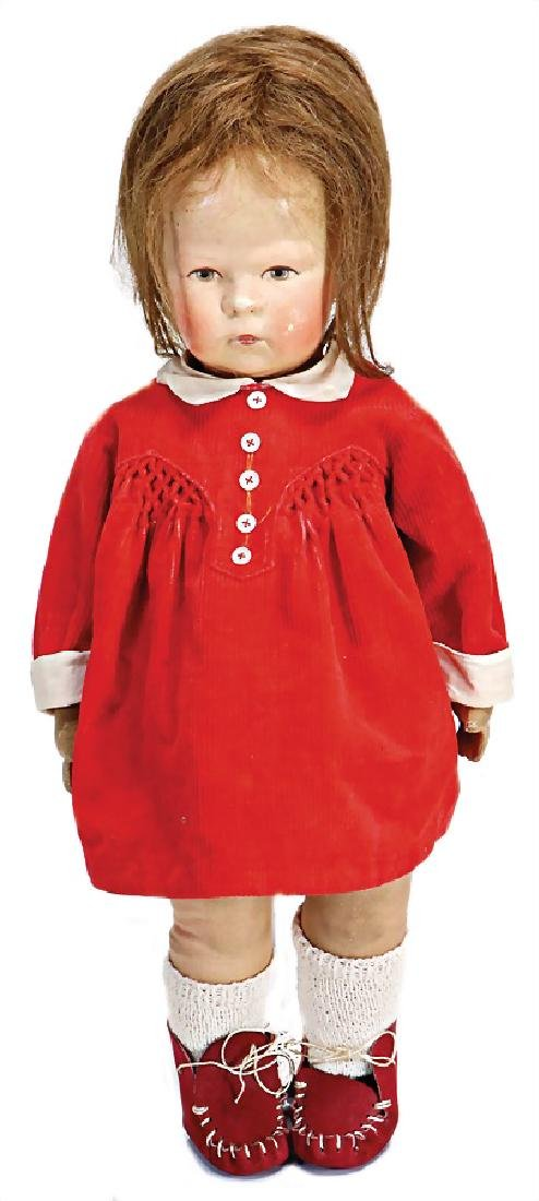 KÄTHE KRUSE doll No. 1H, fabric head, 3 clearly visible