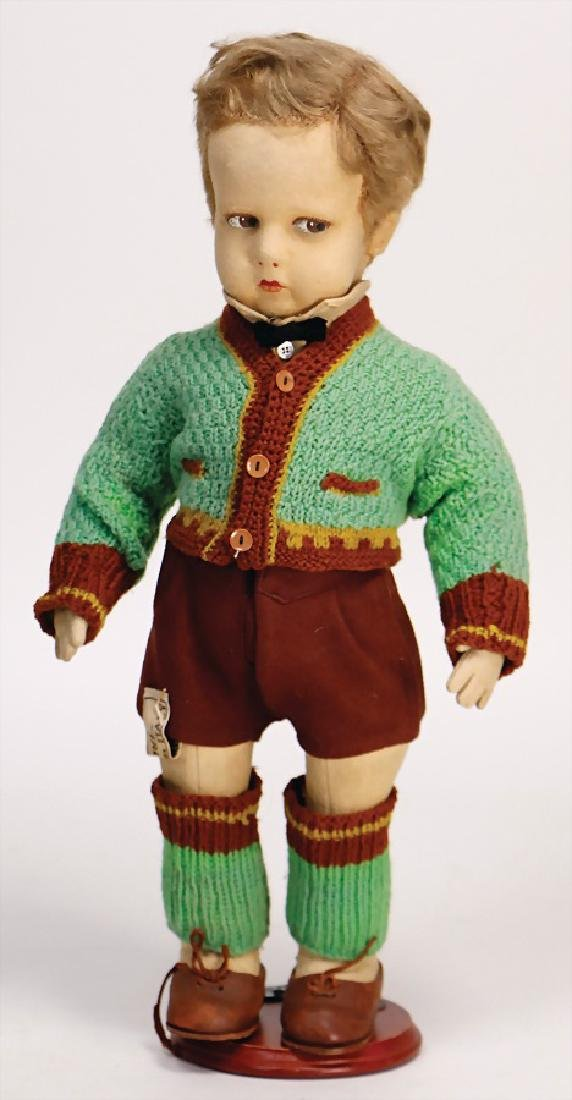 LENCI boy, 42 cm, felt, with to the side looking