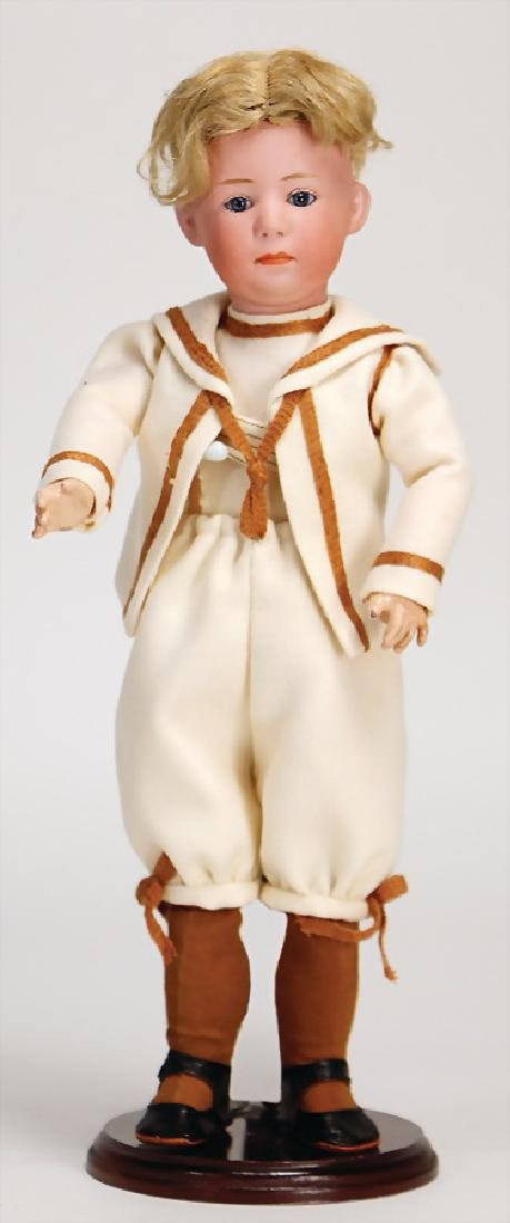 HEUBACH Pouty, biscuit porcelain character doll 35 cm,