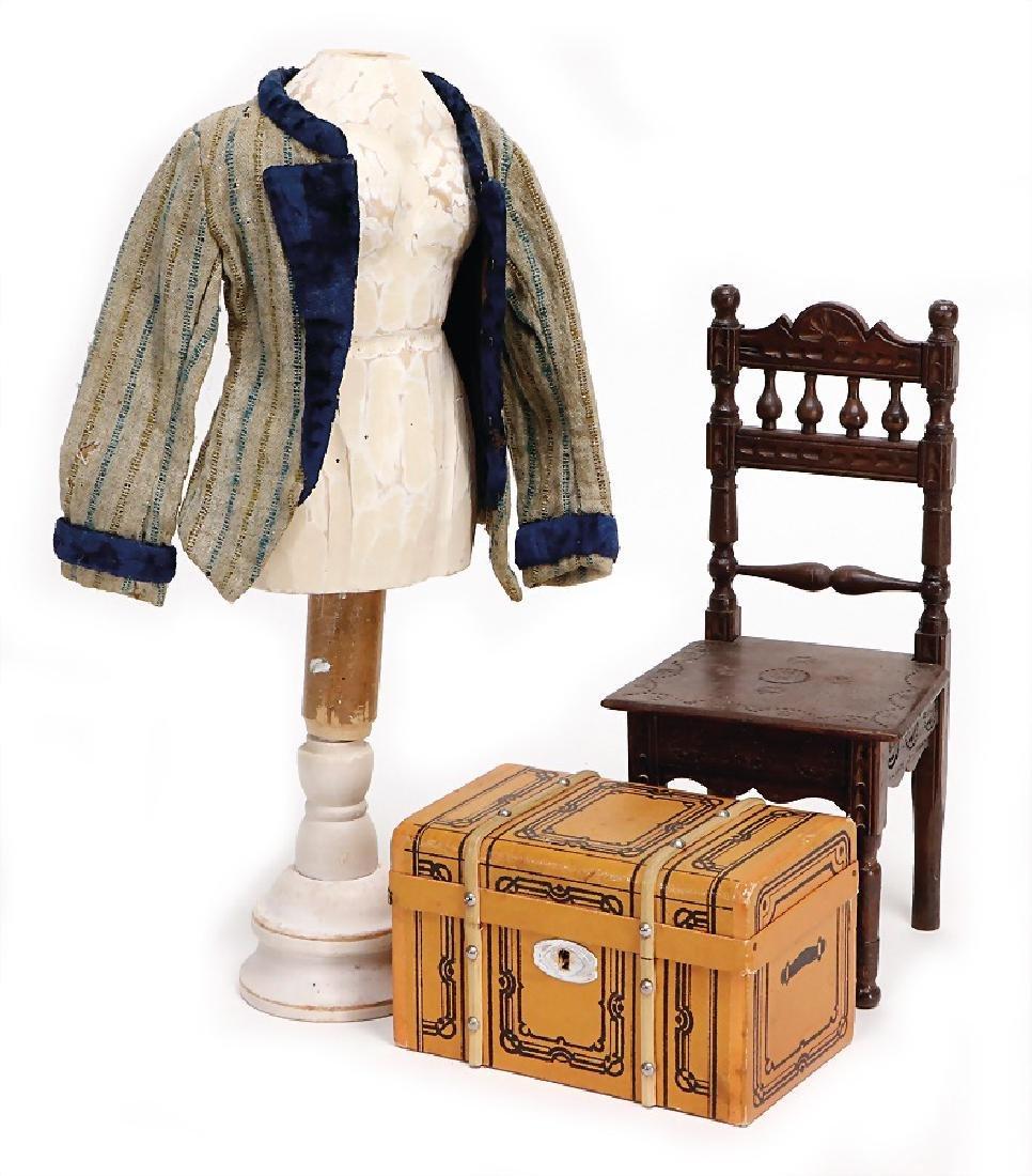 small Trousseau suitcase, 14 cm, some clothes, 1 jacket