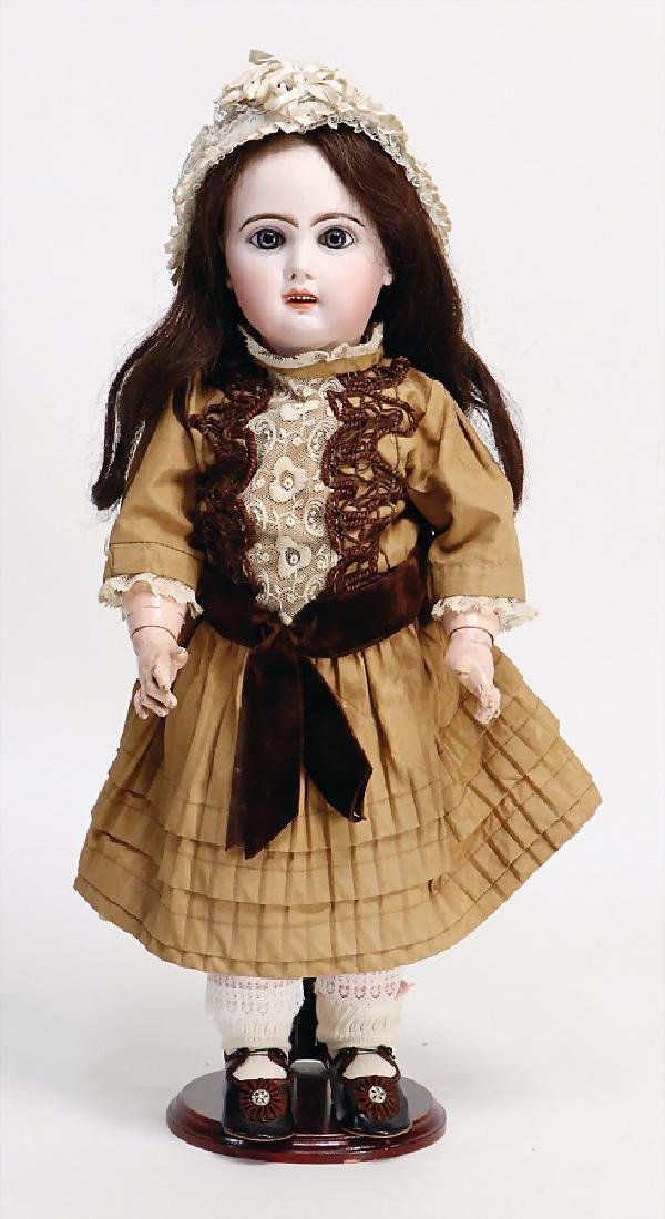 TETE JUMEAU doll withbisque head, France, No. 8, red