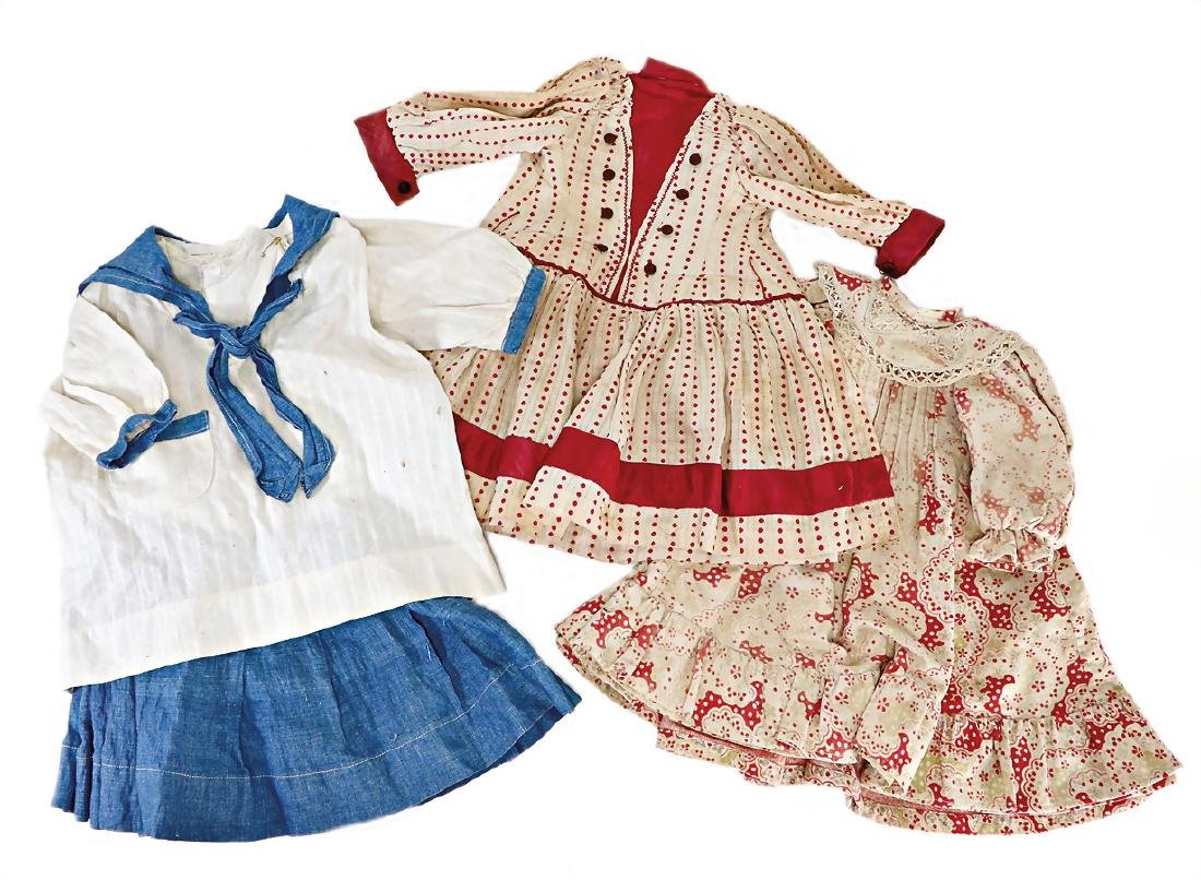 2 pieces doll dresses for a c. 50 cm and  52 cm tall