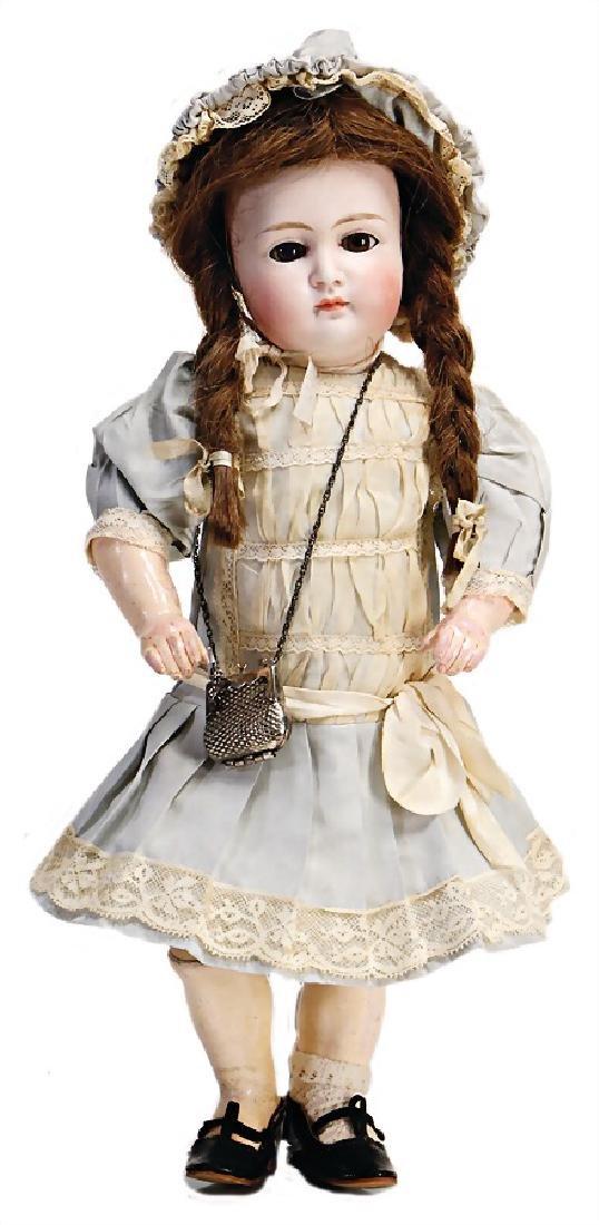 probably KESTNER doll with bisque head, 34 cm, socket