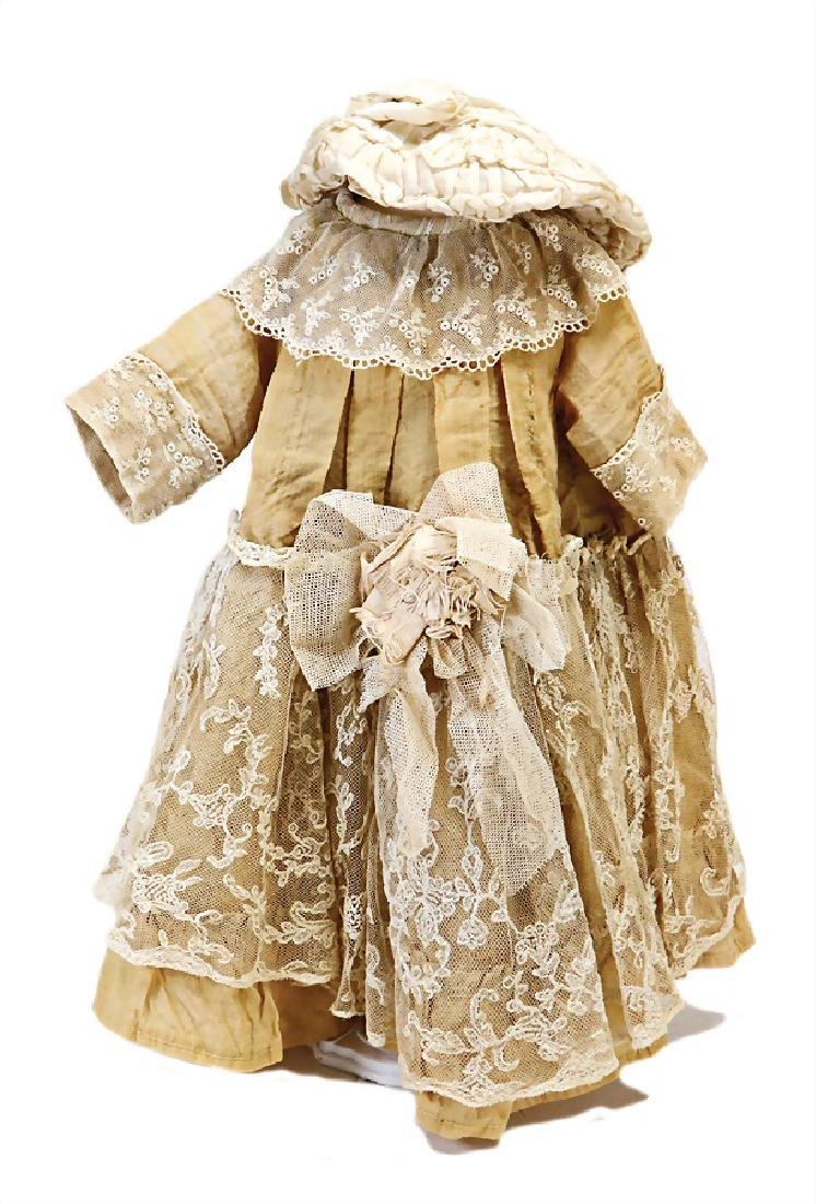 doll dress for c. 50 cm doll, around 1900, cotton with