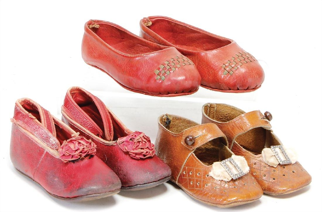 3 pairs of doll shoes for larger dolls, 11.5 - 13 cm,