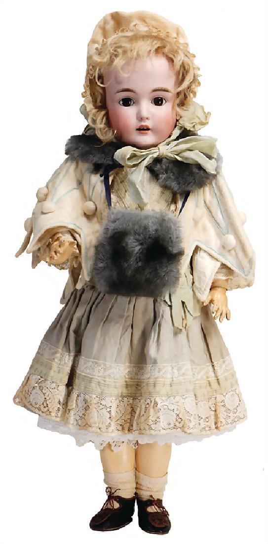 KESTNER biscuit porcelain socket head doll, marked 171