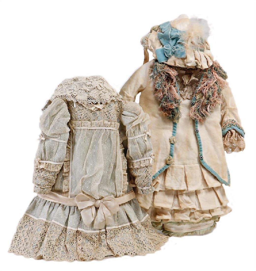 mixed lot of  2x opulent, again sewed doll clothes for