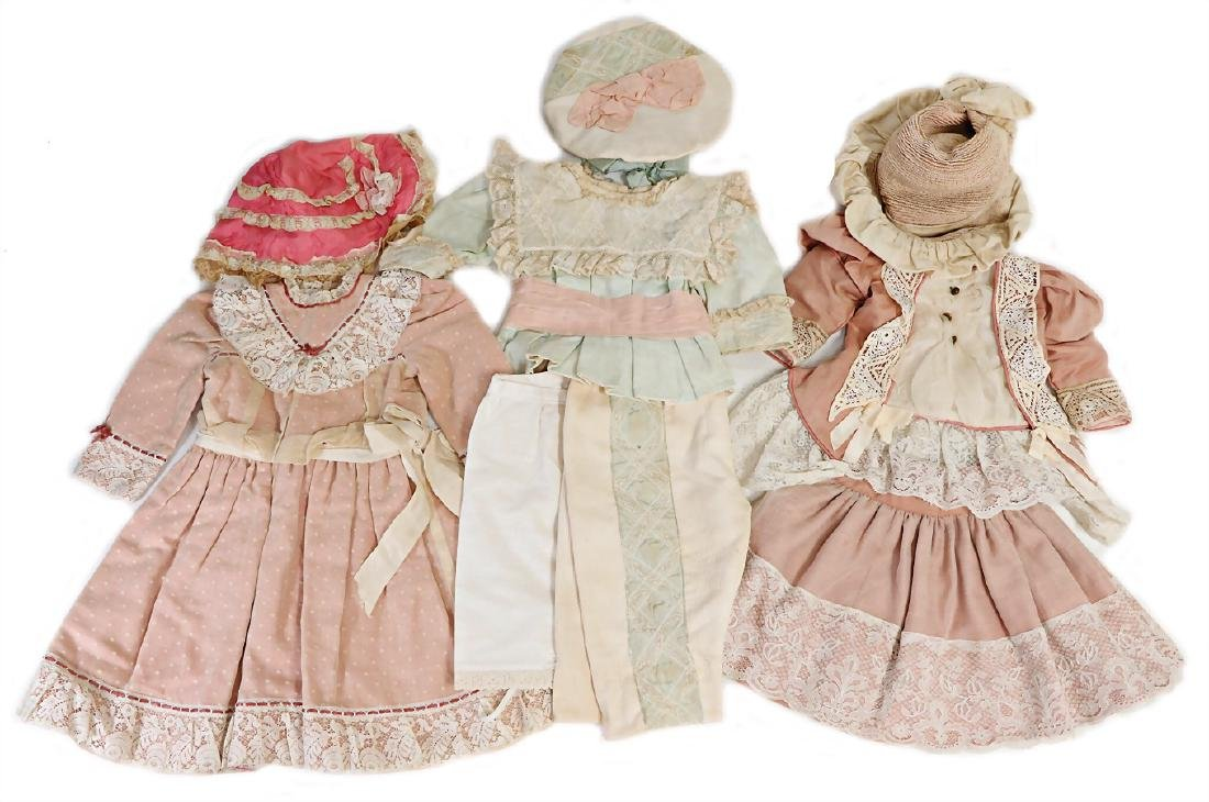 lot doll clothes, 3 different outfits, for c. 30 - 40