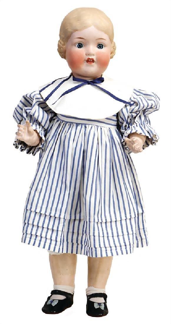 AM doll with bisque head, type Bärbel, 60 cm, socket