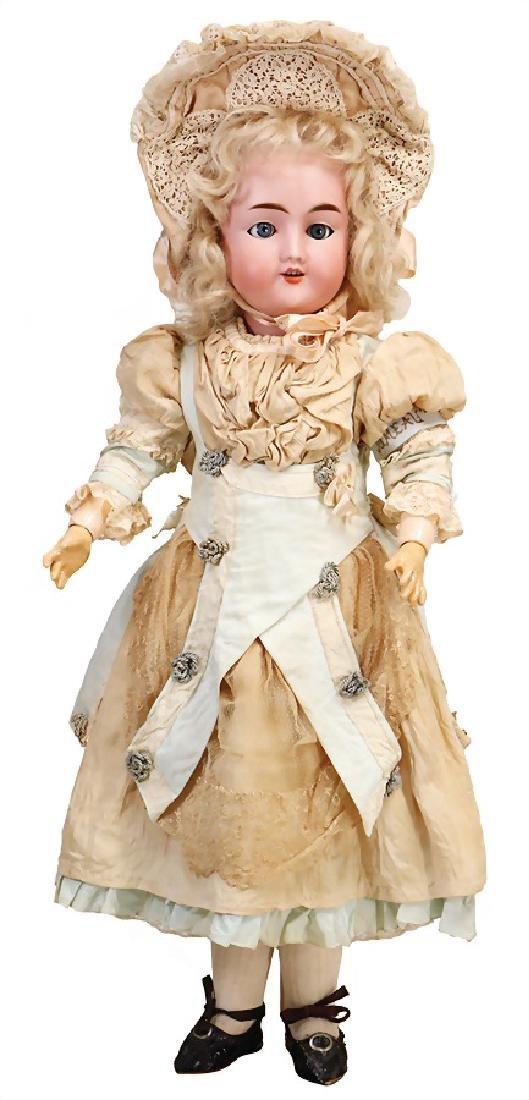 THEODOR RECKNAGEL biscuit porcelain socket head doll,