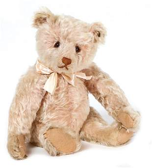 STEIFF teddy Rose, 44 cm, mohair, pink dyed, caused of