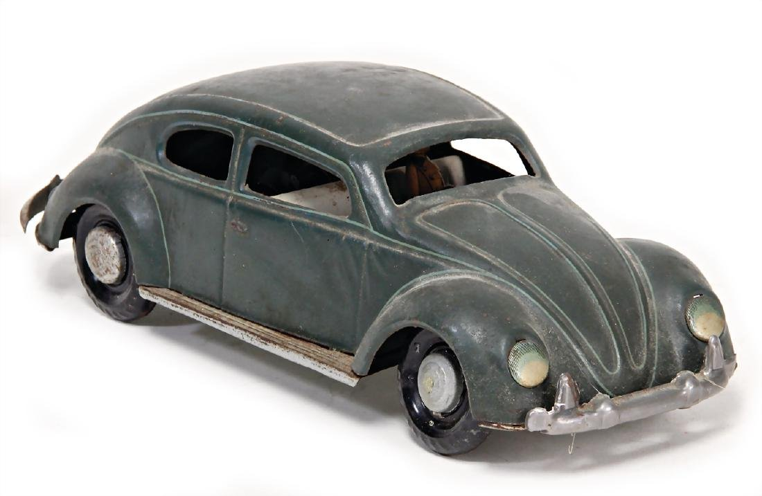 VW beetle, Brezel-windows, sheet metal with driver