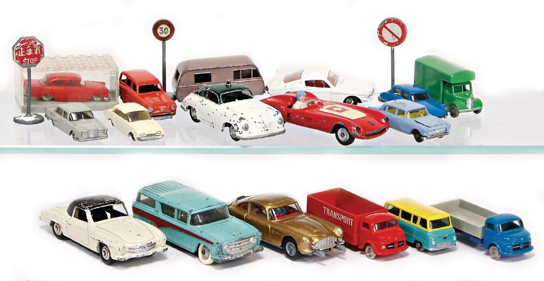 mixed lot of  model cars, TECHNO, Ferrari, good