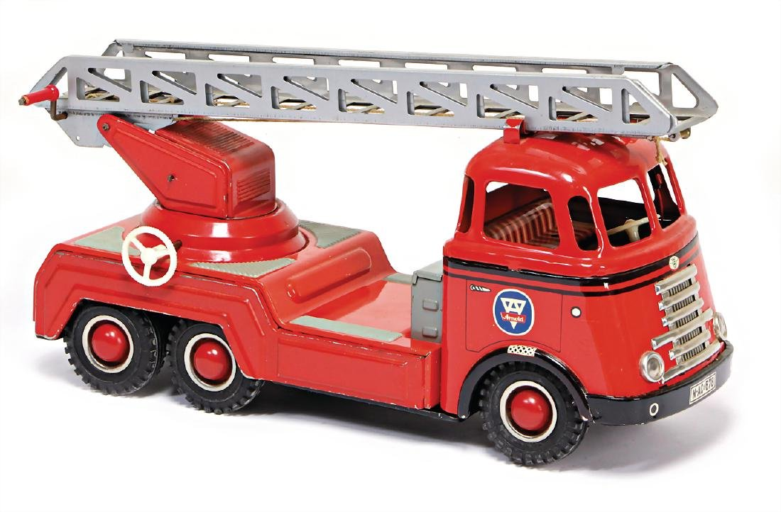 ARNOLD fire engine, turnable ladder, used, the