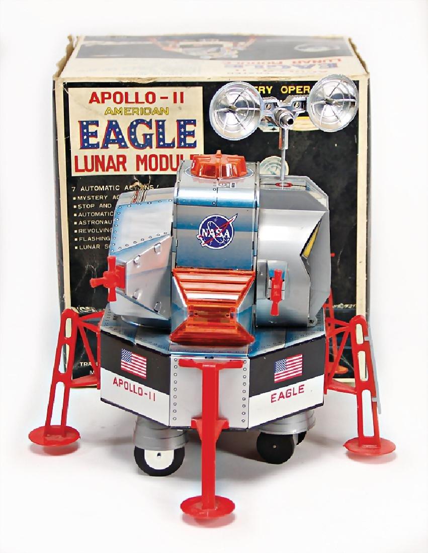 Apollo Lunar, modules, Japan, lithographed sheet metal
