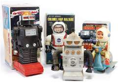 mixed lot Space, The Hysterical Robot, Battery