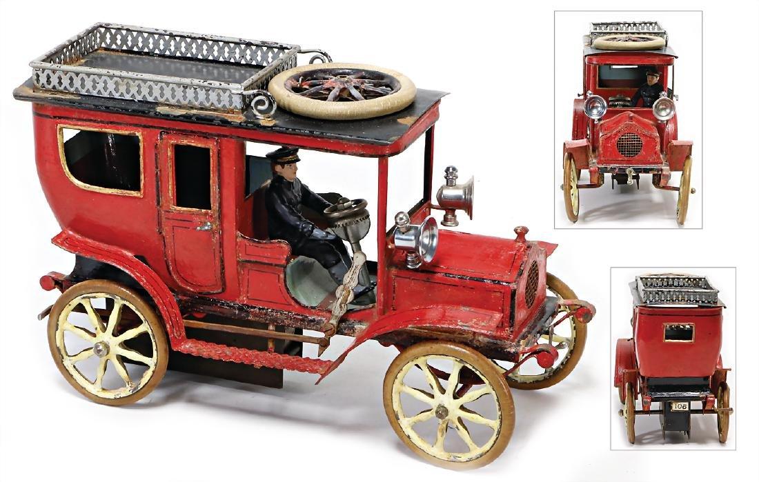 MÄRKLIN automobile, landaulette, around 1900, heavy tin