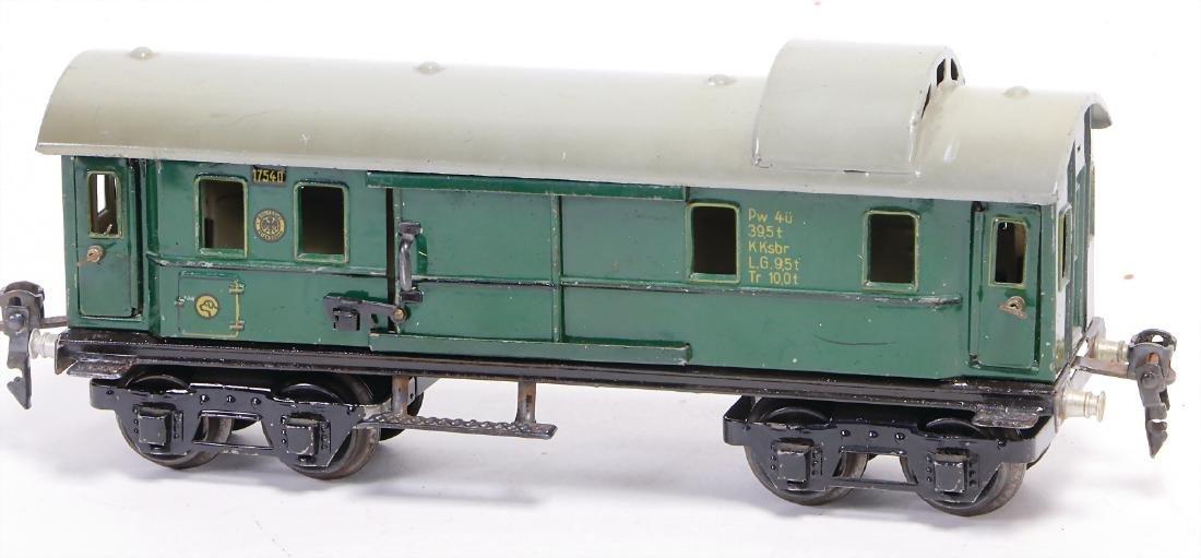 MÄRKLIN track 0, 1754, 4-axled, baggage coach, slightly