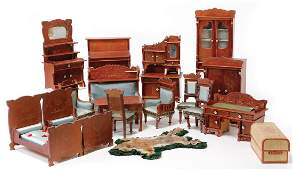 dollhouse furniture program, around 1910, art nouveau,