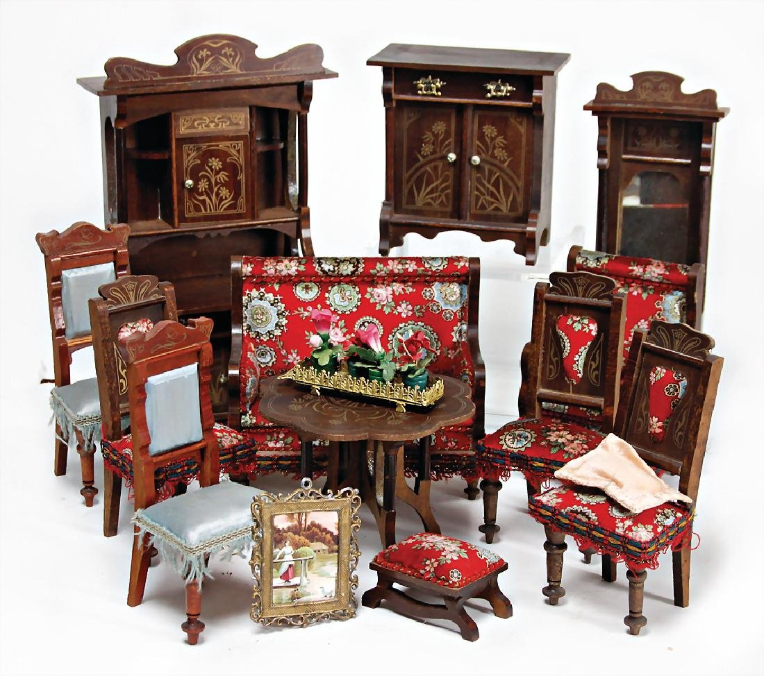 high-quality dollhouse furniture program, art nouveau,