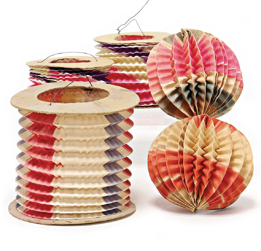 Christmas tree decoration, 5 pieces, small lanterns