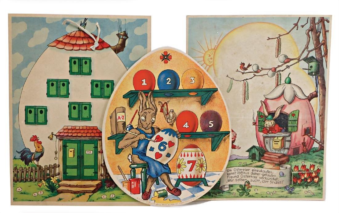 Easter calendar for children, c. 1940, 1 Easter