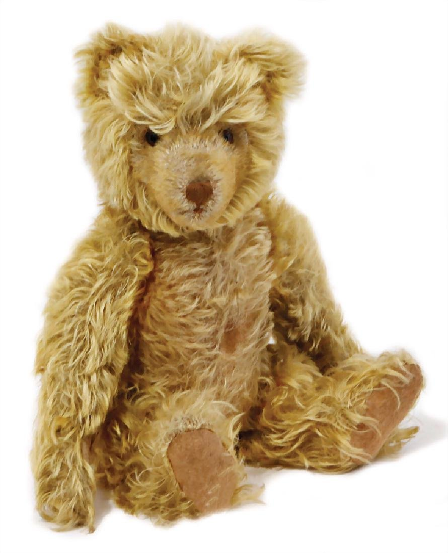 KRÄMER bear, around 1935, long mohair, corn colored,
