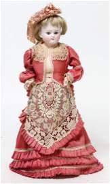 Biskuit-Porzellankopf-Puppe, Belton-Typ, 41 cm, blaue