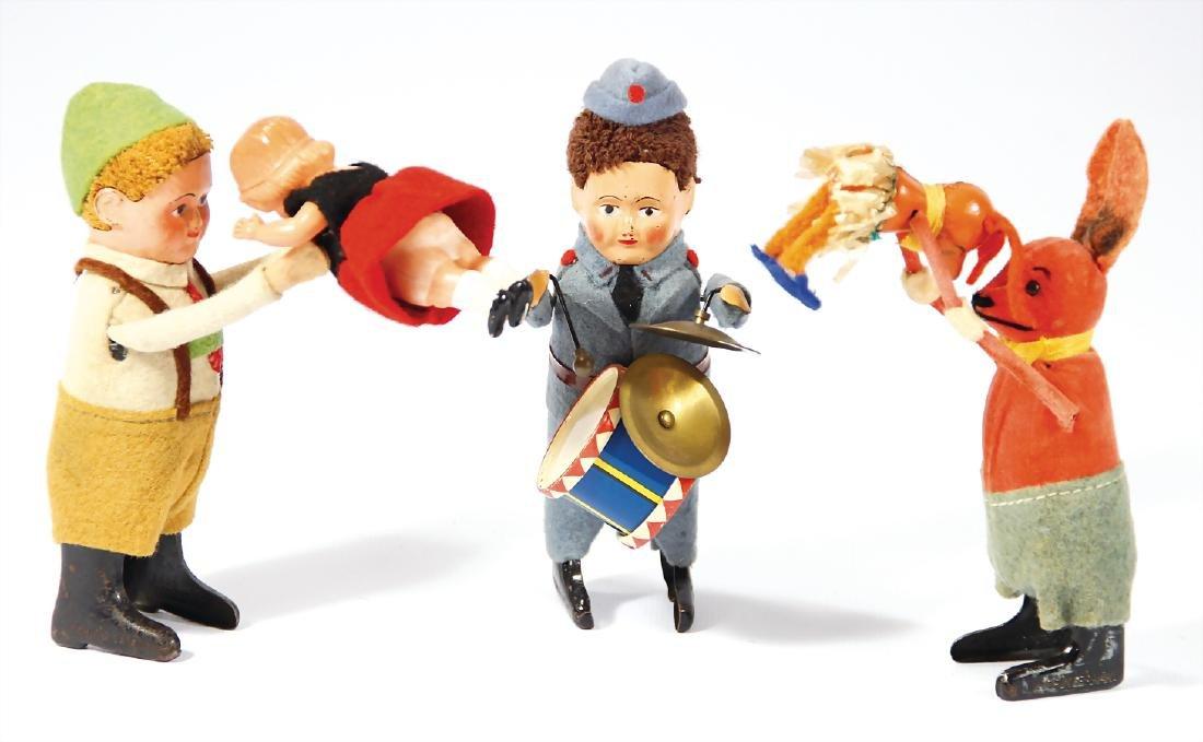 SCHUCO Konv. 3 Tanzfiguren, Maus, Schweizer, Paar, aus