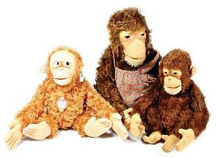 STEIFF 3 Affen davon 2x Jocko sitzend 1x mit Knopf