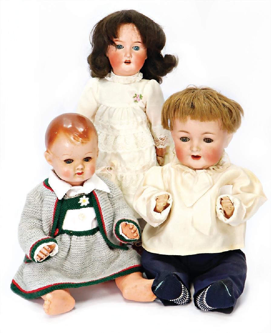 Konv. Puppen, HEUBACH 250, 42 cm, blaue Schlafaugen,